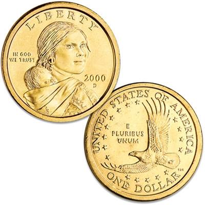 2000 D Sacagawea Dollar 25 Coin Roll